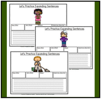 Parts of Speech:  Expanding Sentences through the Year for K-2