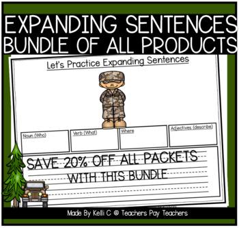 Expanding Sentences- BUNDLE of All Packets