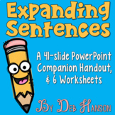 Expanding Sentences PowerPoint and Printables