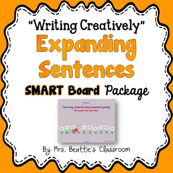 Expanding Sentences Writing Activities for the SMART Board