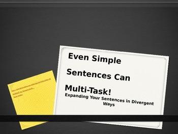 Expanding Sentences and Varying Sentence Beginnings