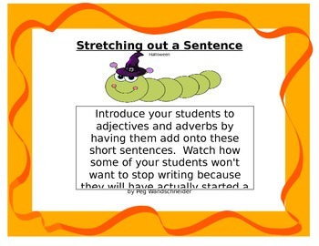 Expanding Sentences using a Halloween Theme