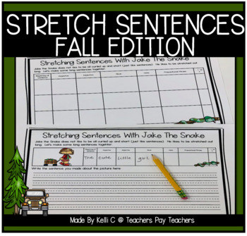 Expanding Sentences with Jake The Snake ~ Fall Edition