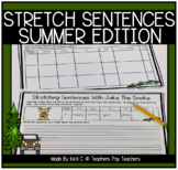 Sentence Writing Worksheets with Jake The Snake For Summer