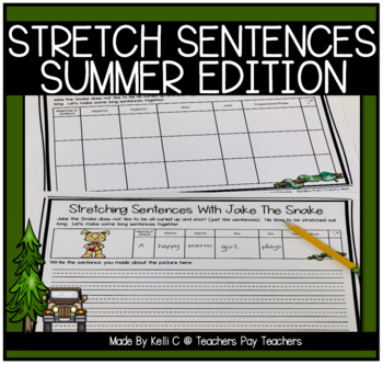 Expanding Sentences with Jake The Snake ~ Summer Edition