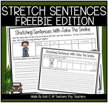 Stretching Sentences with Jake the Snake ~ FREEBIE