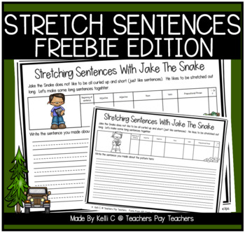 Expanding Sentences with Jake the Snake ~ FREEBIE