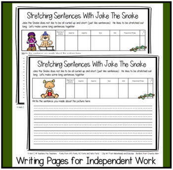 Expanding Sentences with Jake the Snake ~ THE FULL BUNDLE