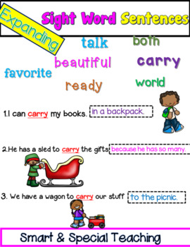 Expanding Sentences with Sight Words (Hochman Writing Method Inspired)