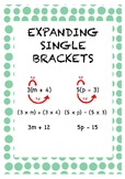 Expanding Single Bracket - Example Poster