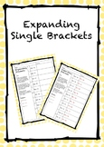 Expanding Single Brackets - Worksheet