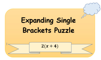 Expanding Single Brackets Puzzle
