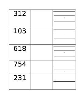 Expanding Three Digit Numbers Worksheet