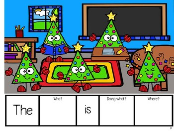 Expanding Utterances - Christmas Tree Friends at School