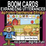 Expanding Utterances - Fall/Autumn Sentence Strips