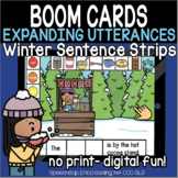 Expanding Utterances - Winter Sentence Strips