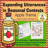 Expanding Utterances in Speech Therapy- Apple Theme
