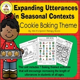 Expanding Utterances in Speech Therapy- Christmas Baking Theme