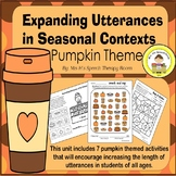 Expanding Utterances in Speech Therapy- Pumpkin Theme