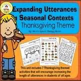 Expanding Utterances in Speech Therapy- Thanksgiving Theme