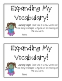 Expanding Vocabulary Booklet