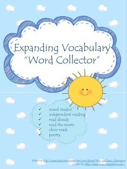 Expanding Vocabulary - Word Collector {FREEBIE}
