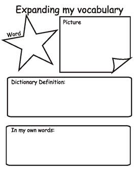 Expanding Vocabulary Worksheet
