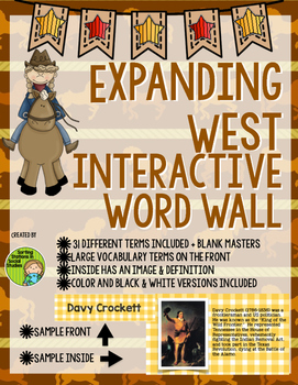 Expanding West 1800-1855 Interactive Word Wall