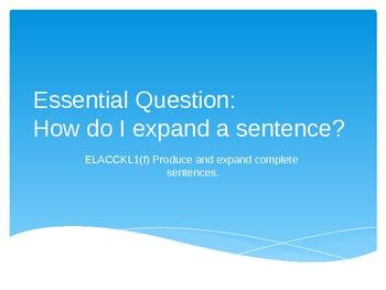 Expanding a Simple 4 Star Sentence into a 5 Star Sentence