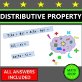 Distributive Property Equivalent Expressions Combining Lik