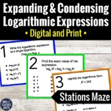 Expanding and Condensing Logarithmic Expressions Stations