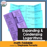 Expanding and Condensing Logarithms Foldable