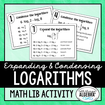 Expanding and Condensing Logarithms Math Lib