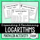 Expanding and Condensing Logarithms Math Lib