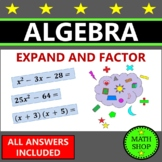 Algebra Expanding and Factoring
