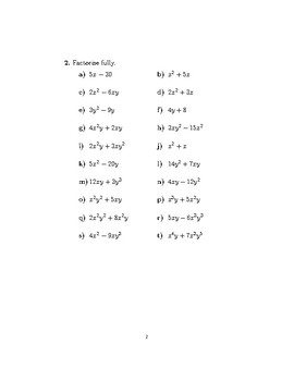 Expanding brackets and factorising