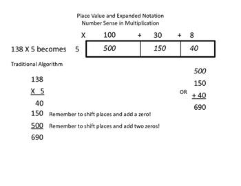 Common Core Mathematics Expanding on Multiplication using