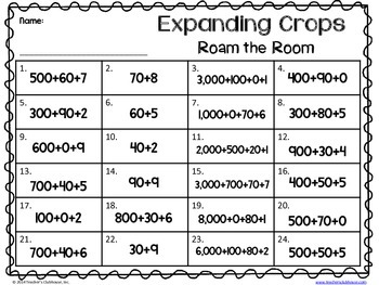 Expanding the Crops {Expanded Form}
