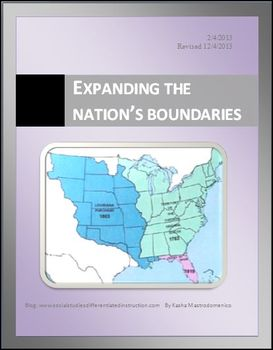 Expanding the Nation's Boundaries Differentiated Instruction Lesson Plan