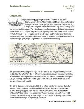 Expansion Lesson 6 - Oregon Trail
