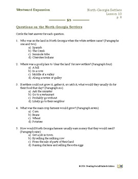 North Georgia Settlers - Expansion Lesson 10
