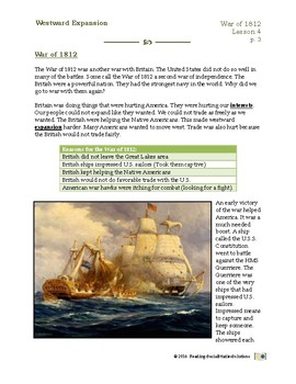 Expansion Lesson 4 - War of 1812