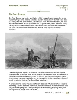 Pony Express - Expansion Lesson 9