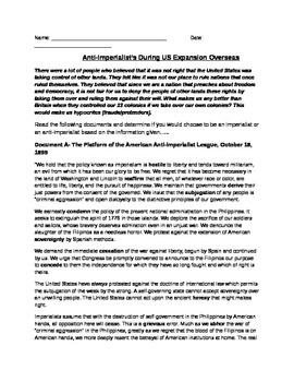 Expansion Overseas: Anti-Imperialists Documents, Questions