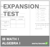 IB Math Expansion Test