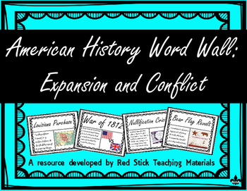 Expansion and Conflict Word Wall