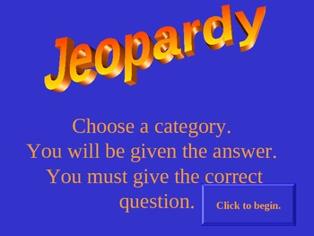 Expansion and Division Jeopardy