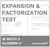 IB Math Expansion and Factorization Test