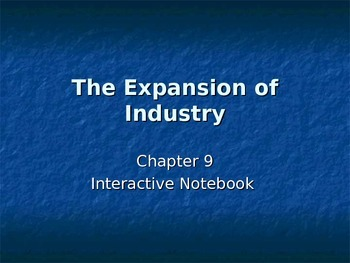 Expansion of Industry PowerPoint