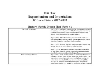 Expansionism and Imperialism Unit Plan